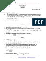 2016 Sample Paper 12 Mathematics 02