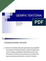 GEMPA TEKTONIK