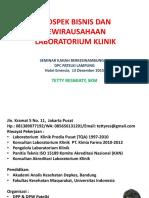 Prospek Bisnis Laboratorium Klinik