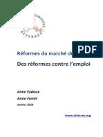 A Eydoux Et a Fretel Réformes Du Marché Du Travail - 30 Janvier 2016