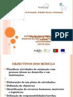 3541 - Animação No Domicilio e Em Instituições – Planificação de Atividades