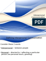 7. Outline Interpersonal Comm