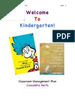 Cassie's Classroom Management Plan