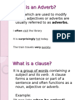 Adverb Clauses - Definition