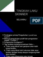Model Tingkah Laku Skinner