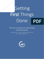 Getting First Things Done
