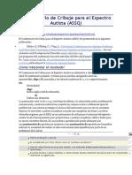 Cuestionario de Cribaje Para El Espectro Autista ASSQ