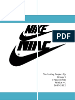 Principles of Marketing project on Nike