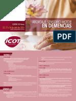Programa Curso Abordaje Sensorio-motor en Demencias