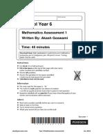 Year 6 Maths Assessment 1