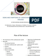 Lecture Signs and Symptoms of Cardiovascular System Diseases