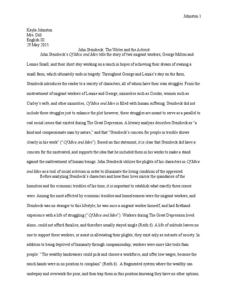 Steinbeck research paper best definition essay ghostwriters sites uk