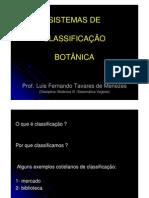 Biologia Botânica - Sistemas de Classificação
