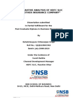 Comparative Analysis of HDFC SLIC With Other Insurance Company