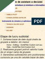2. Curs Instrumente de Sintetizare a Informatiilor