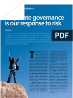 Corporate Governance is Our Response to Risk