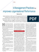 Embedding Risk Management for Improved Organisational Performance