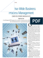 Enterprise-Wide Business Process Management Drives Performance