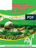 Manual de Manejo Técnico Del Cultivo de Arroz - JUCHL