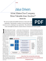 Value Drivers - What Makes an Organisation Valuable