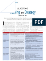 Aligning Training to Strategy