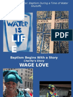 Baptism During a Time of Water Shutoffs Powerpoint