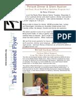 WCAS Feathered Flyer Newsletter Nov 2012 - Jan 2013
