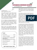 WCAS Feathered Flyer Newsletter Summer 2003