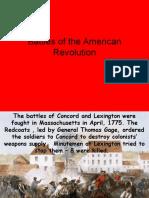 ppt battles of the american revolution