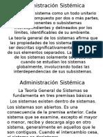 Administración Sistémica y Procesos