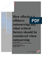 How effective is offshore outsourcing[1]