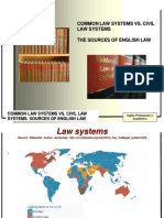 Common Law vs Civil Law & Sources