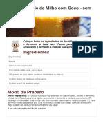 Copie a Receita de Bolo de Milho Com Coco - Sem Farinha - Receitas Supreme
