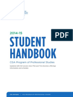 CPA Student Handbook CGA Program of Professional Studies 2014-2015