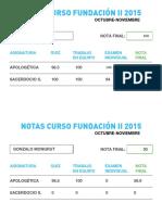 Notas Curso Fundacion 2