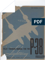 Pilot Training Manual for Lockheed P-38 Lightning