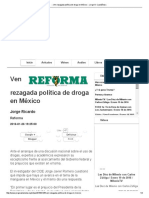 Ven Rezagada Política de Droga en México
