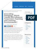 Innovating Pedagogy_ Which Trends Will Influence Tomorrow's Teaching and Learning Environments_ - AACE