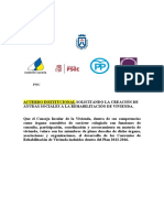 Ayudas rehabilitación viviendas rurales, acuerdo institucional Cabildo Tenerife pleno 27.11.15