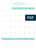 2016 Calendar from Simple as That blog