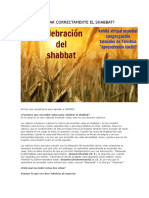 Cómo Celebrar Correctamente El Shabbat