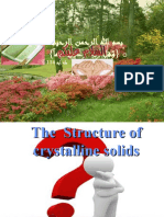 The Structure of Cry Stall In Solid