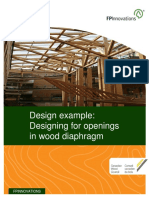 Design Example of Designing for Openings in Wood Diaphragm