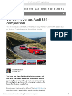 VW Golf R Versus Audi RS4 - Comparison _ Autocar