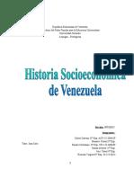 Historia socieconomica de Venezuela
