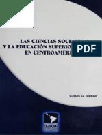 Las Ciencias Sociales y La Educación Superior Pública en Centroamérica