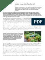 Le jardinage organique et vous - Let's Get Started !