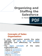 5 Organizing and Staffing the Salesforce