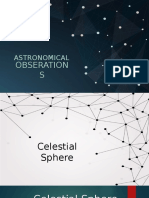 Astronomical Observations
