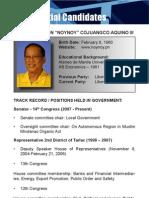 [Philippine Elections 2010] Aquino, Noynoy Profile